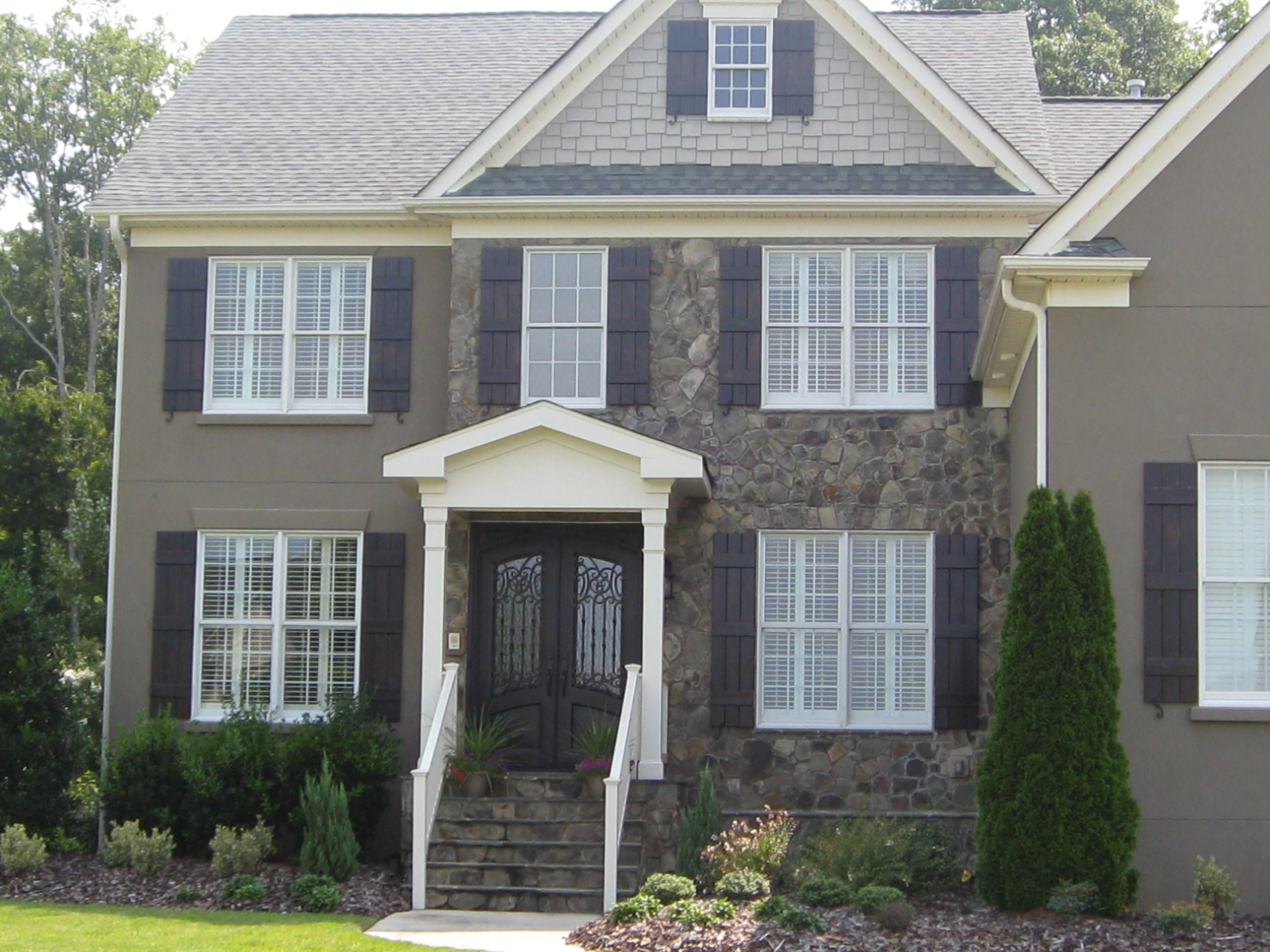 Exterior home colors with shutters - Transform The Look Of Your Home S Exterior Affordably With Custom Shutters