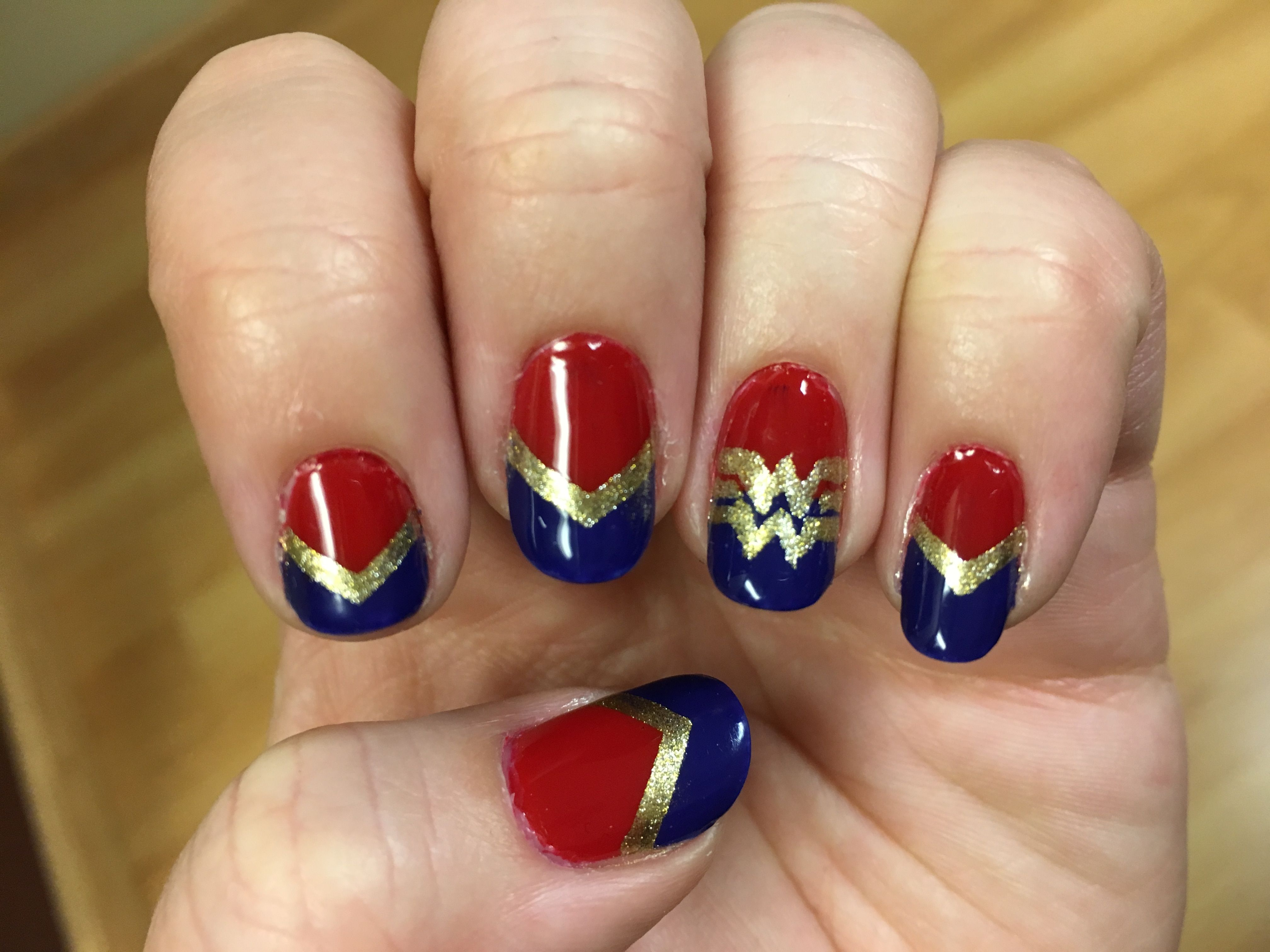 Wonder Woman nail art design! | Nail Designs | Pinterest | Wonder ...