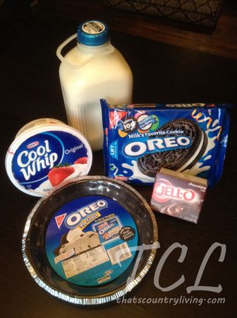 Dessert Time COOL WHIP Chocolate OREO Pudding Pie add a cream