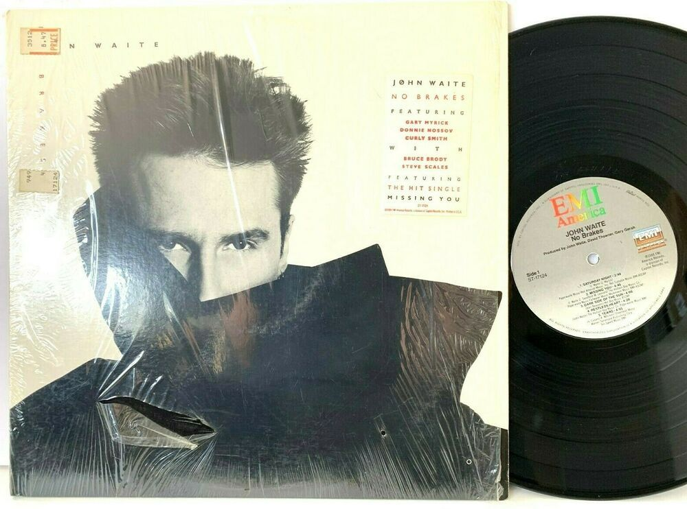 John Waite No Brakes In Shrink Emi America St 17124 Lp Vinyl
