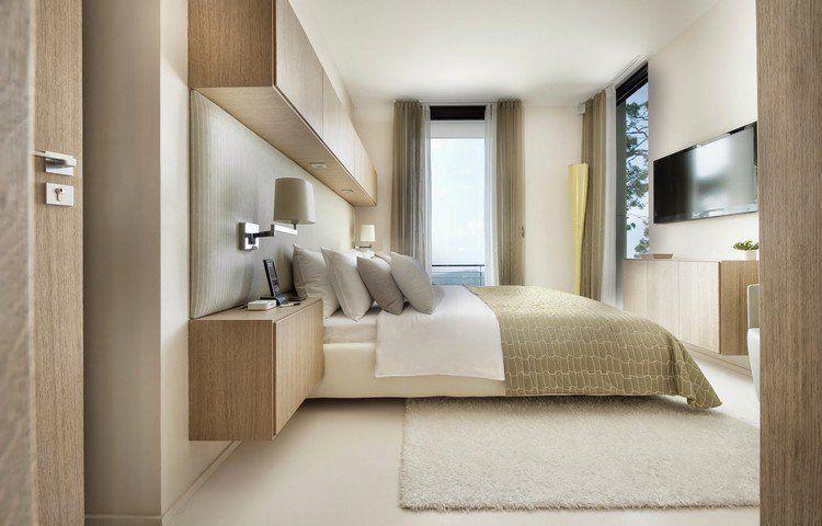 couleur de peinture pour chambre blanc neige, lit bas assorti