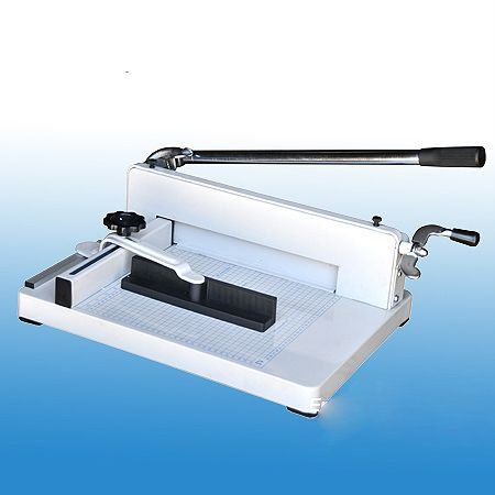 Heavy duty desktop stack paper cutter features a new patent pending design based on innovative ideas as well as valuable...