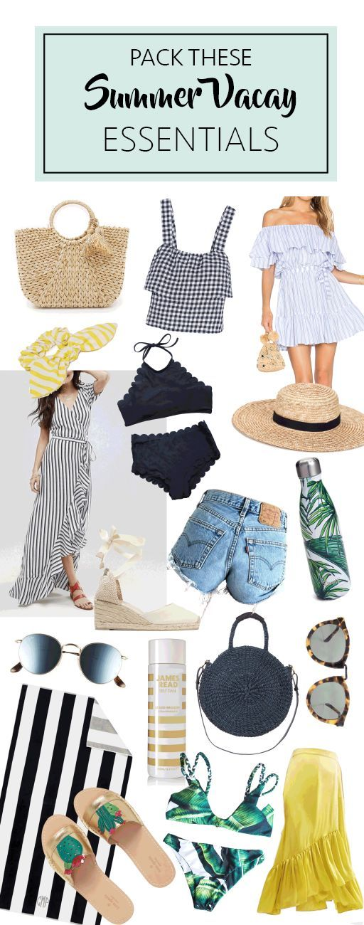 Pack These Summer Vacation Essentials #summervacationstyle
