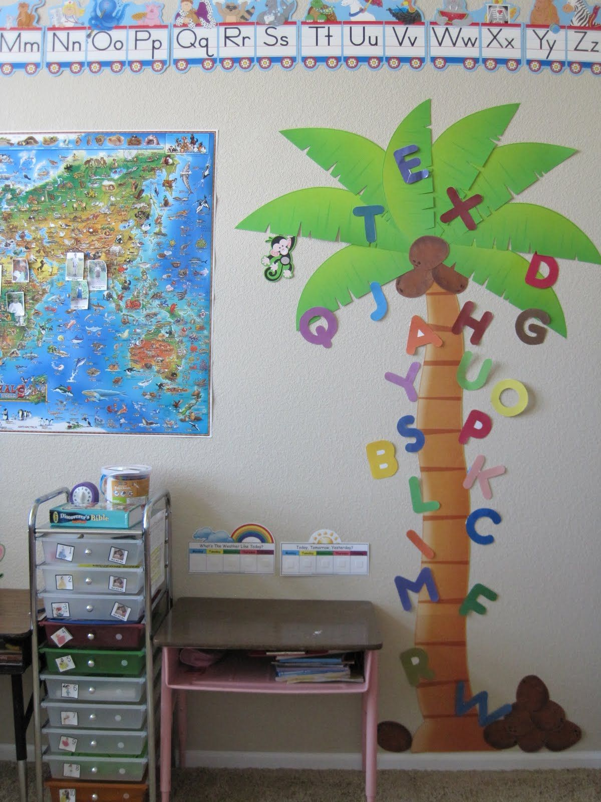 Chicka Chicka Boom Boom Letter Tree For Prek Letters