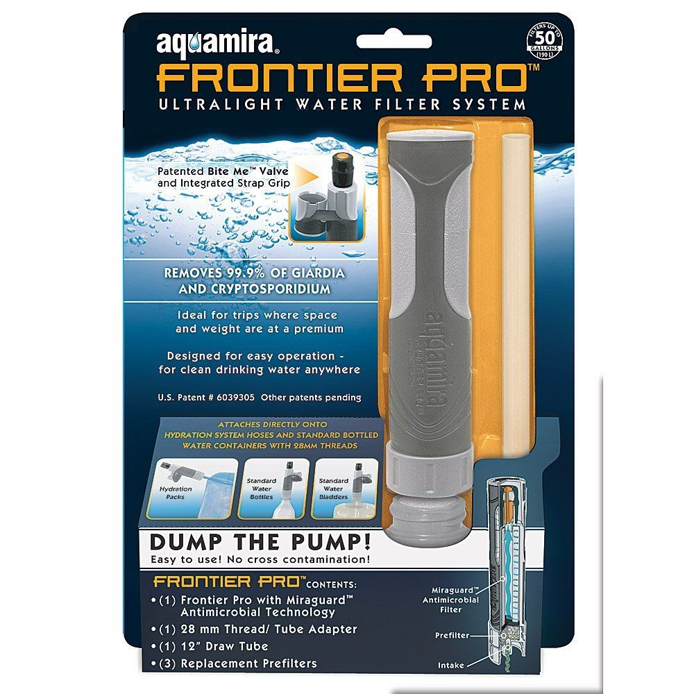 Aquamira Frontier Pro Water Filter with Replacement ...