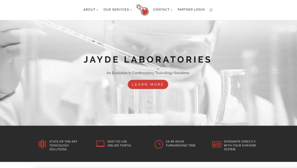 Web Design For Jayde Laboratory Discovermybusiness Medical Website Design Medical Science Medical Laboratory Science