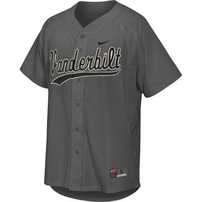 newest 6a663 afbf6 Vanderbilt Commodores Grey Nike Baseball Jersey | vanderbilt ...