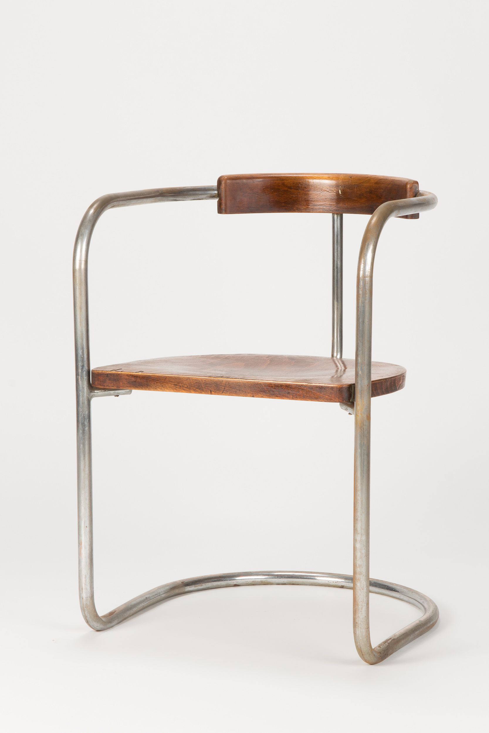Unique Bauhaus cantilever chair made in Italy in the 1930s