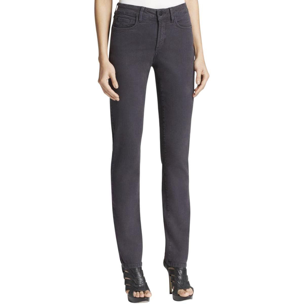 NYDJ Womens Button-Zip Fly Slim Pants