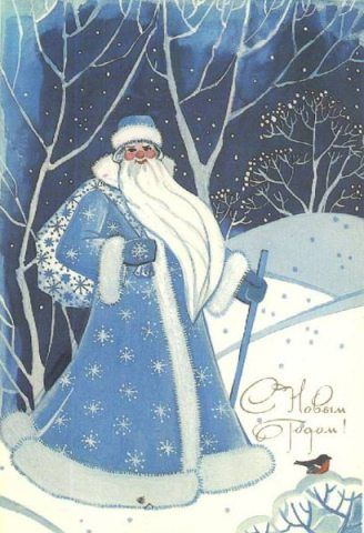 "In Russia, Ded Moroz plays a role similar to that of Santa Claus. The literal translation of the name would be ""Old Man Frost"", although the name is often translated as ""Father Frost"". Ded Moroz is said to bring presents to children at New Year's Eve parties and other New Year celebrations."