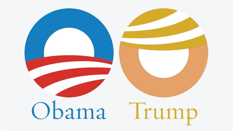 obama s campaign logo looks a lot like donald trump pinterest rh pinterest com