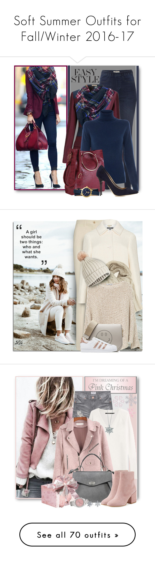 """""""Soft Summer Outfits for Fall/Winter 2016-17"""" by elbie3 ❤ liked on Polyvore featuring White Stuff, Bottega Veneta, Repeat Cashmere, Jimmy Choo, Tory Burch, Etro, John Lewis, MANGO, Miss Selfridge and Anya Hindmarch"""