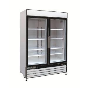 Maxx Cold 48 Cu Ft Two Door Merchandiser Refrigerator In White Mxm2 48r At The Home Depot Commercial Refrigerators Glass Door Double Sliding Doors