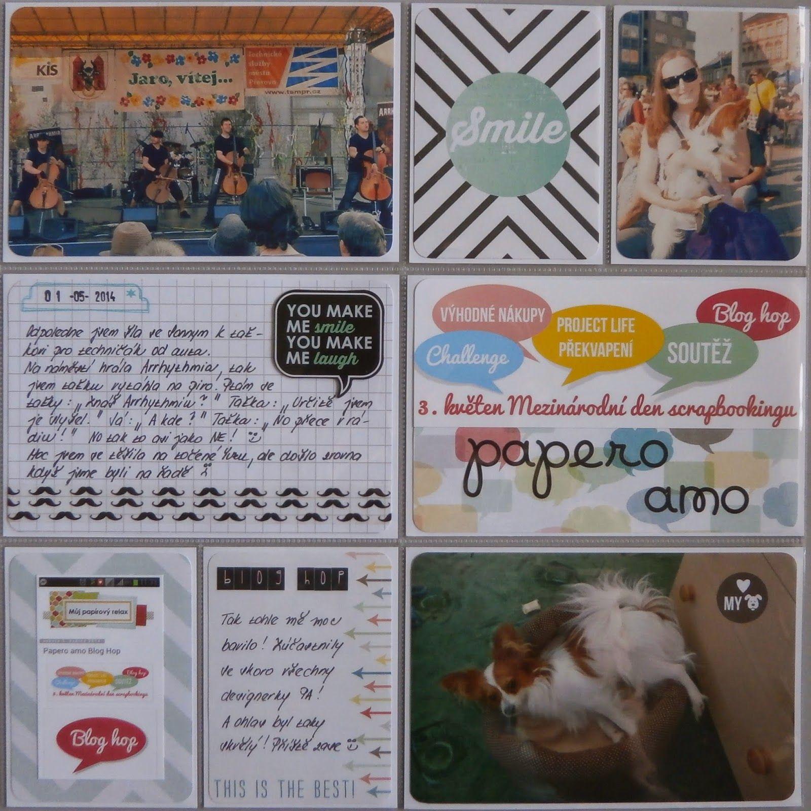 Project life 2014 - 18. týden (pravá strana)