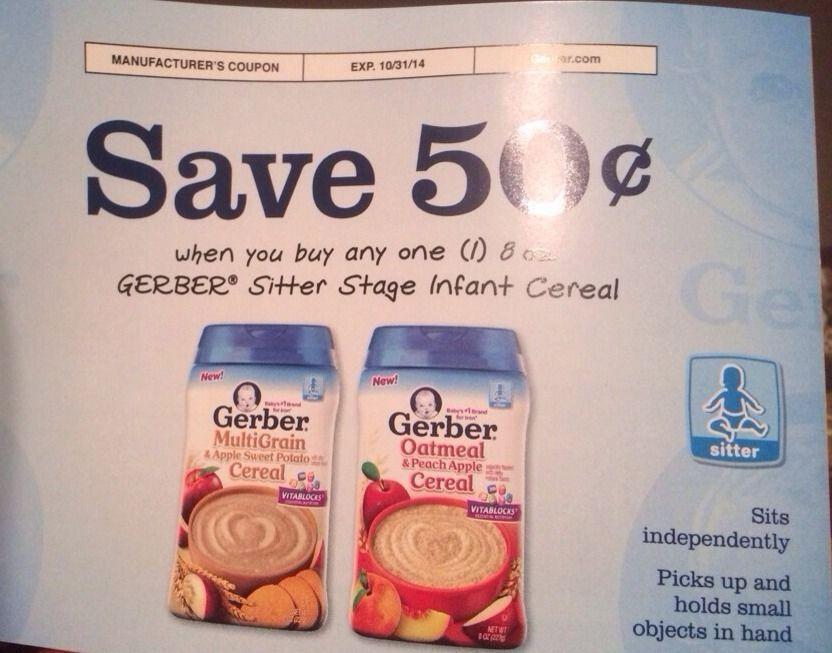 gerber baby food stage 1 cereal