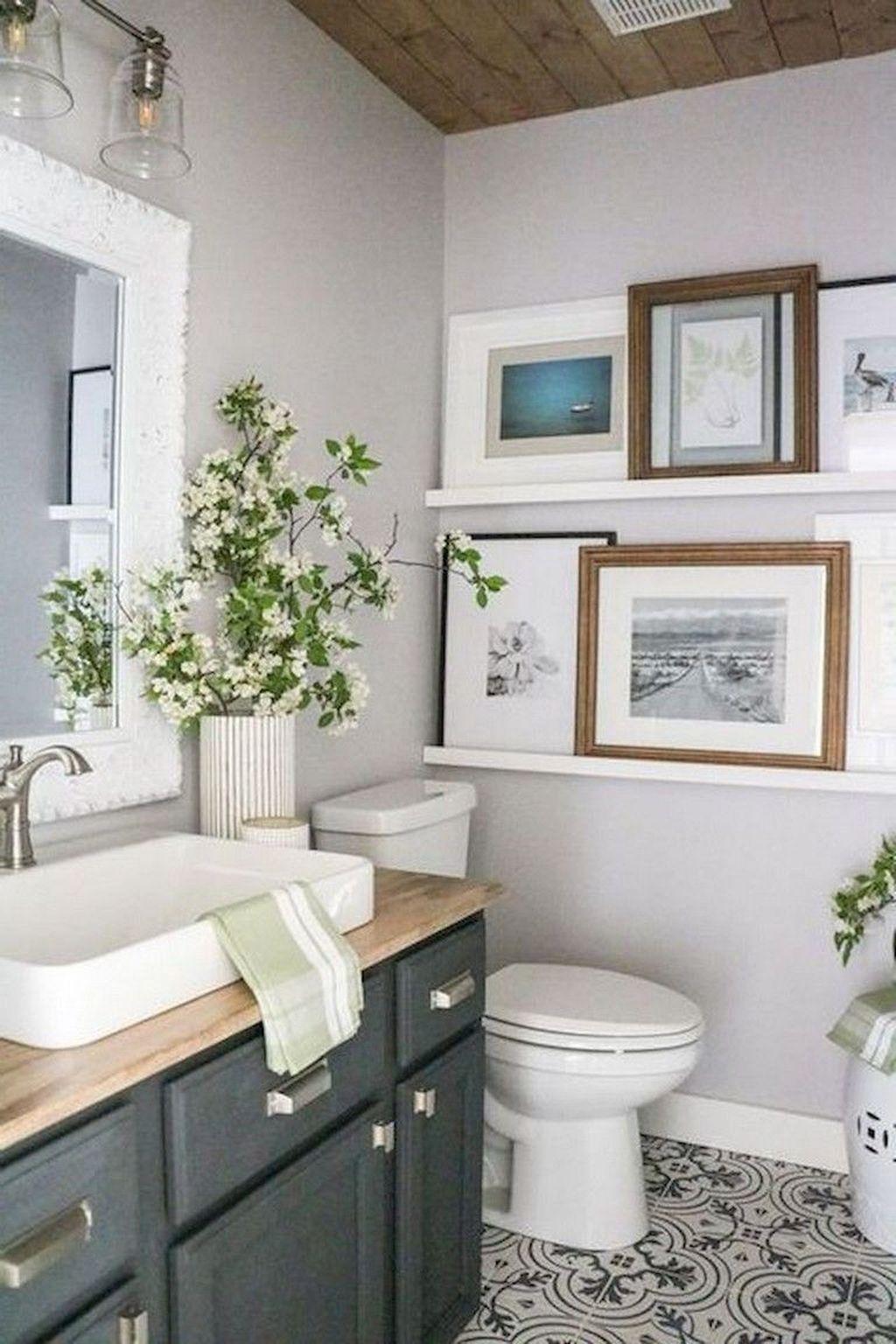 46 Gorgeous Farmhouse Bathroom Ideas With Rustic Designs ...