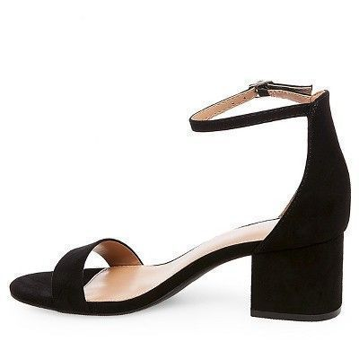 b4ff1f9935c Women s Marcella Low Block Heel Pumps with Ankle Straps Merona - Black 9   anklestrapsheelslow