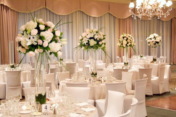 Tall Wedding Centerpieces On A Budget Flower Arrangement 1