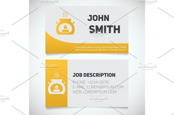 Business Card Print Template With Aroma Candle Logo Product