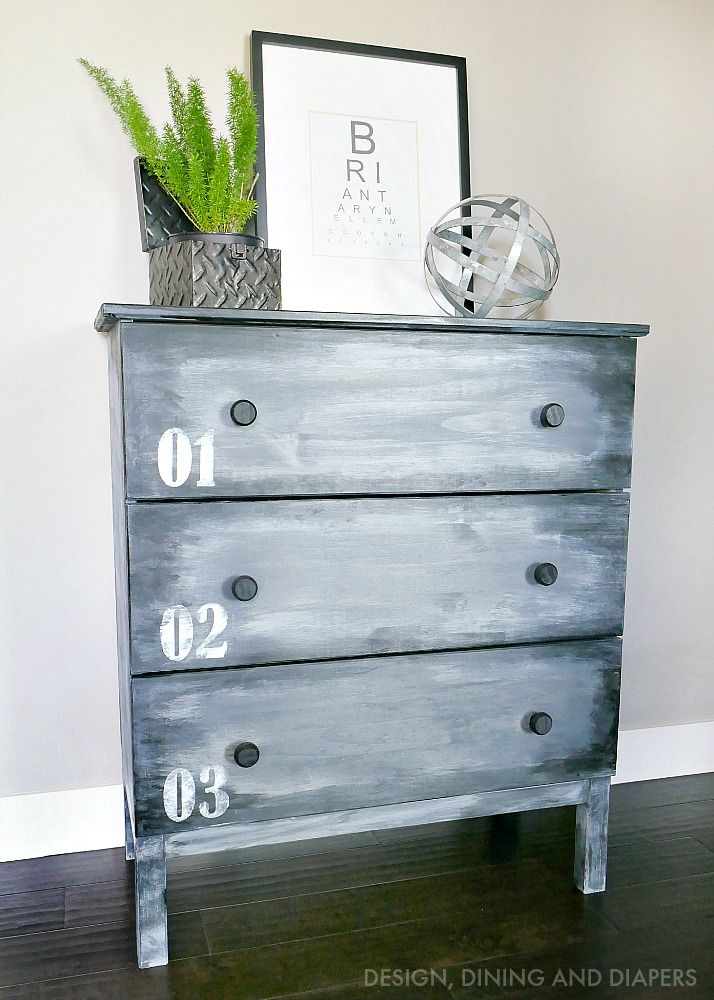 IKEA HACK DIY Faux Metal Dresser