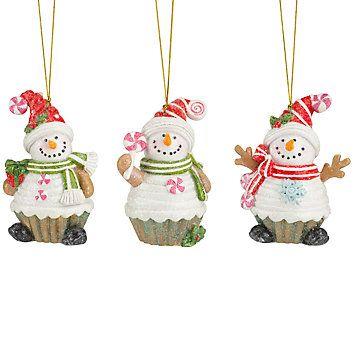 Last Chance Ornaments Lenox Ornaments Ornament Set Snowman Cupcakes