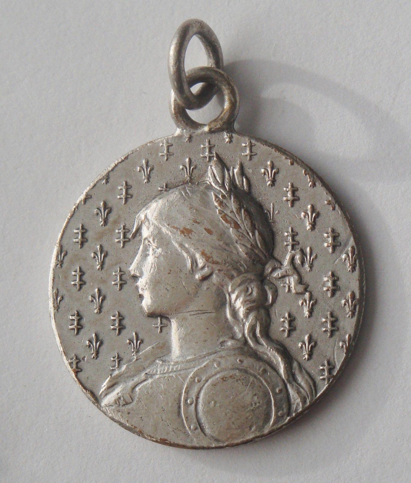 RARE Old Medal St Joan of Arc   eBay
