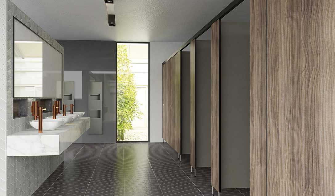 Image result for commercial bathroom partitions Image