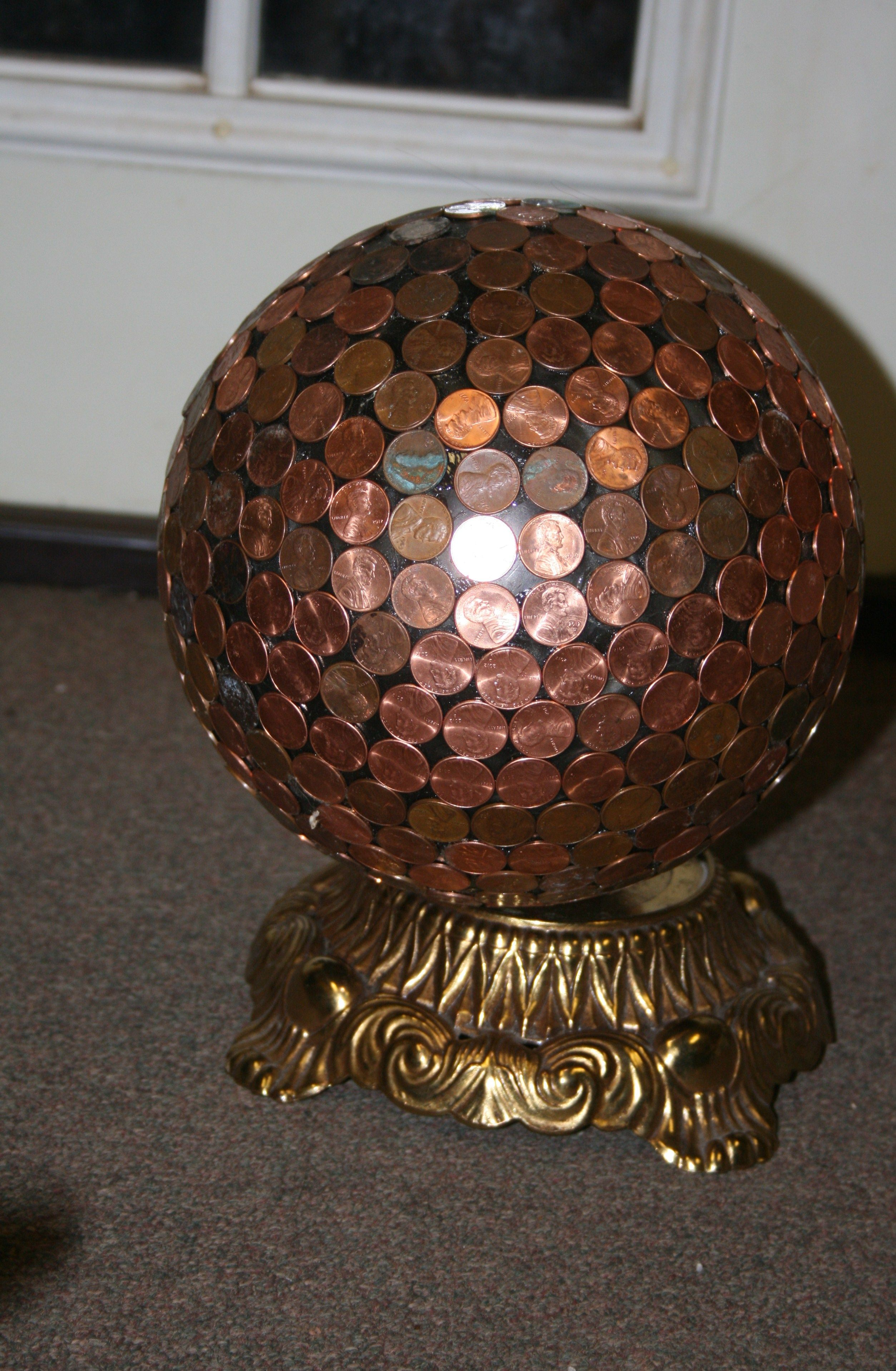 Coin Crafts, Outdoor Crafts, Outdoor Fun, Bowling Ball, Copper Furniture,