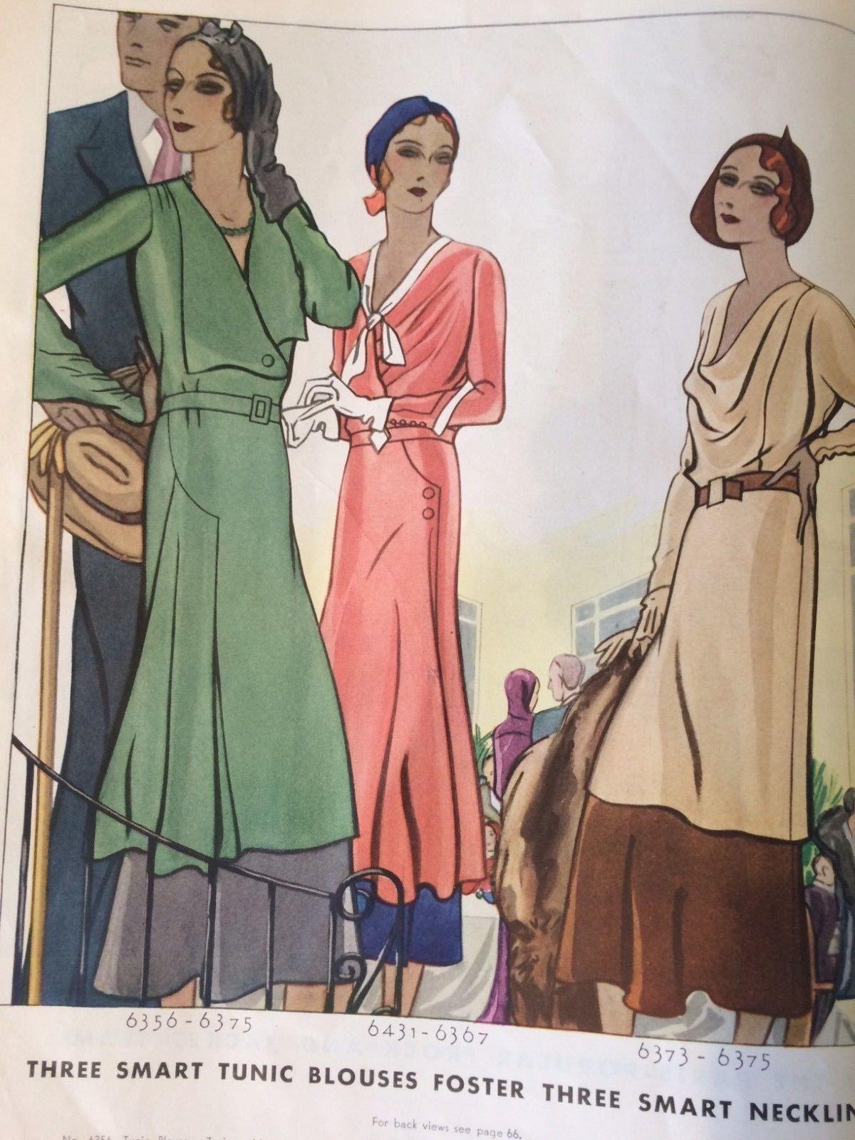 1931 Fashion Catalog -- McCalls Pattern Quarterly AMAZING