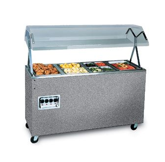 Vollrath Affordable Portable Four Well Hot Food Station With Granite Wrapper Complete With Buffet Breath Guard 60 L Hot Meals Outdoor Storage Box Food Stations