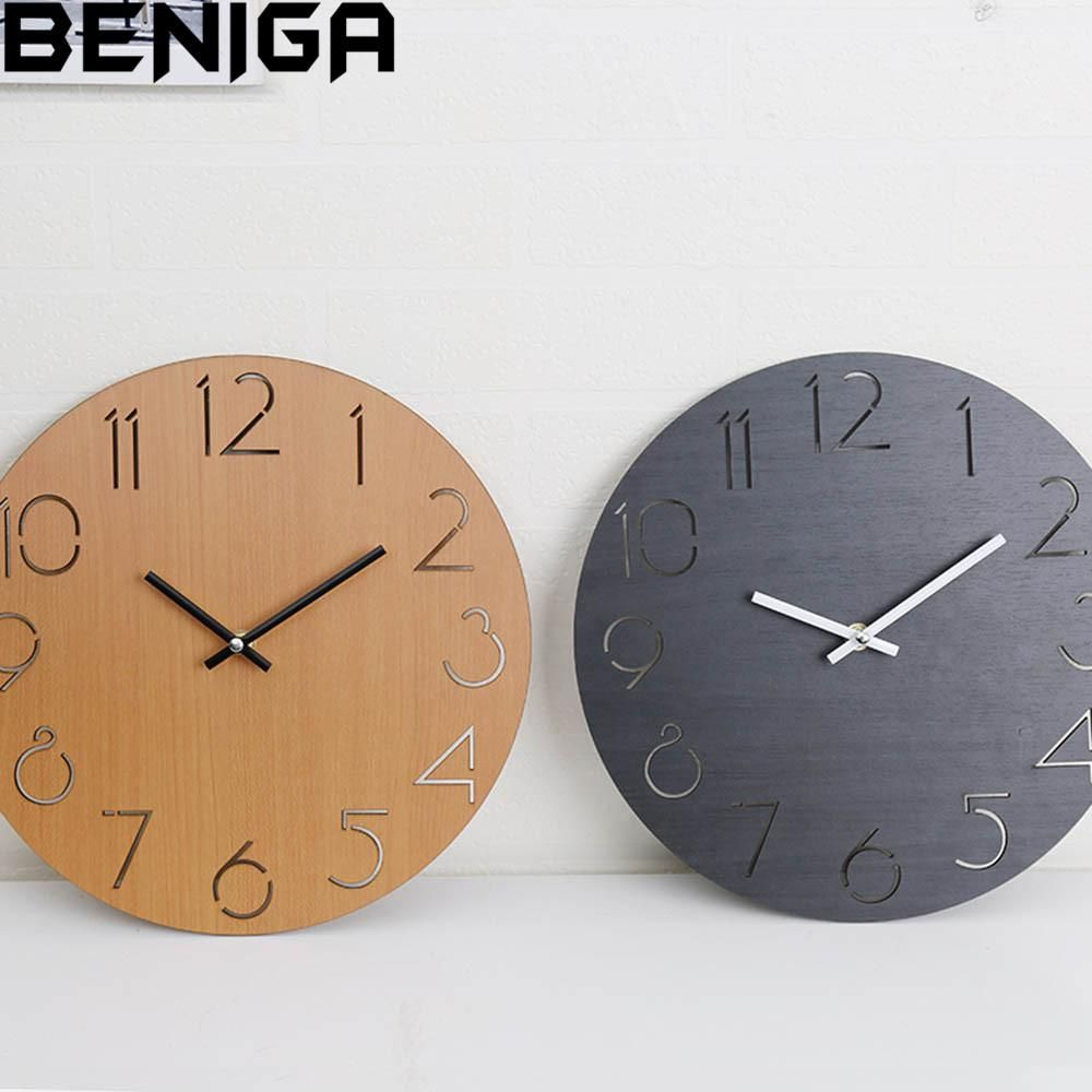 Creative Wall Clock Living Room Simple Modern Clock Home Round