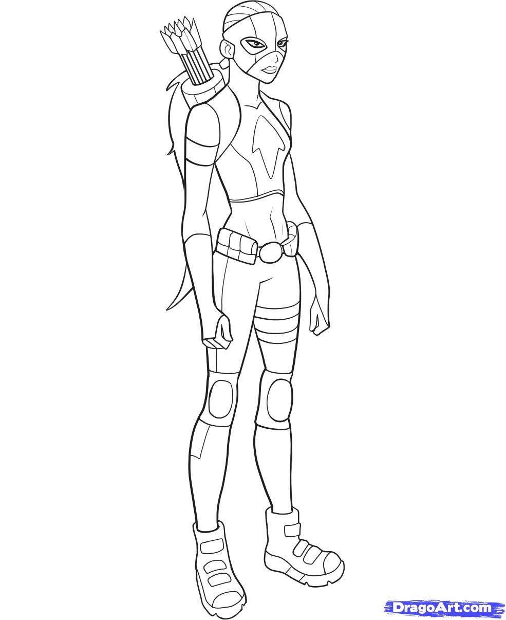 Nightwing From DC Comics Young Justice Coloring Page | Nightwing ... | 1206x985