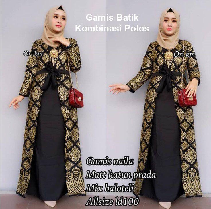 Model Gamis Terbaru Batik Kombinasi Model Pakaian Model Pakaian Hijab Gaya Model Pakaian