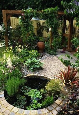 50 Ideas backyard pond decor small gardens #backyardoasis