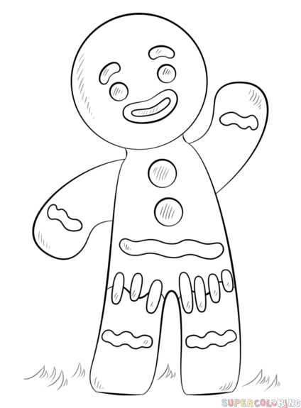 How To Draw A Gingerbread Man Step By Step Drawing Tutorials Christmas Drawings For Kids Gingerbread Man Coloring Page Gingerbread Man Drawing