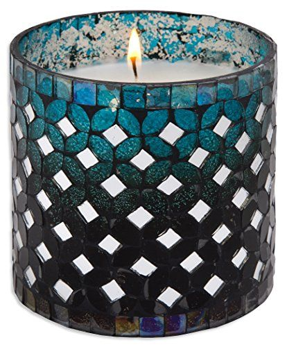 Home Essentials  Beyond 73152 4 H in Peacock Mosaic Candle *** Want to know more, click on the image.Note:It is affiliate link to Amazon.