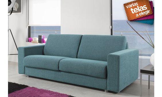 Sof dos plazas de l neas rectas tapizado en tela varios colores a elegir sof s pinterest - Tela tapizado sofa ...