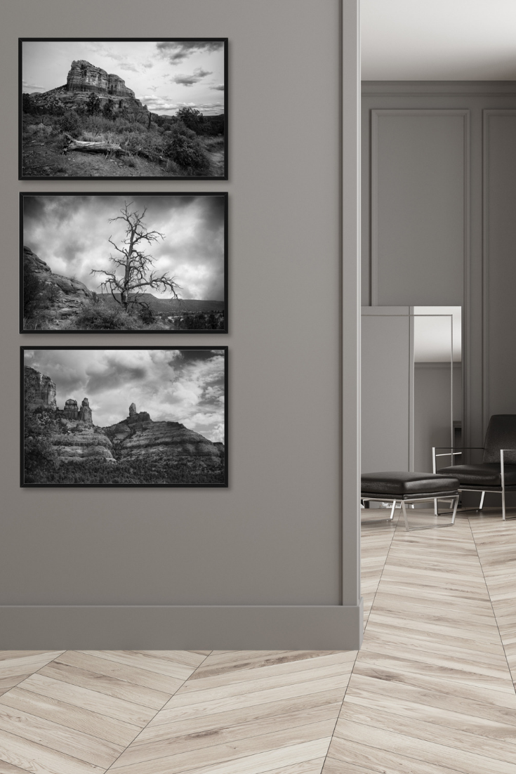 Desert Art Print Set Sedona Red Rock Art Modern Living Room Wall Masculine Living Rooms Wall Decor Living Room