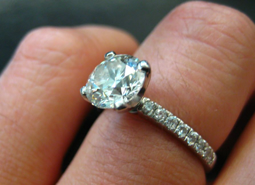 Wedding Bands For Solitaire Rings Put a ring on it Pinterest