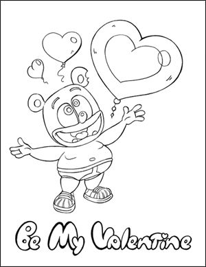 valentines day 2011 coloring page gummi bearscoloring