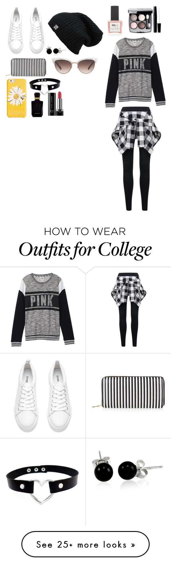 """Pink"" by rachelunderscorelovesfashion on Polyvore featuring Victoria's Secret, New Look, Gucci, Kate Spade, Bling Jewelry, ncLA, Chanel, Keiko Mecheri and Marc Jacobs"