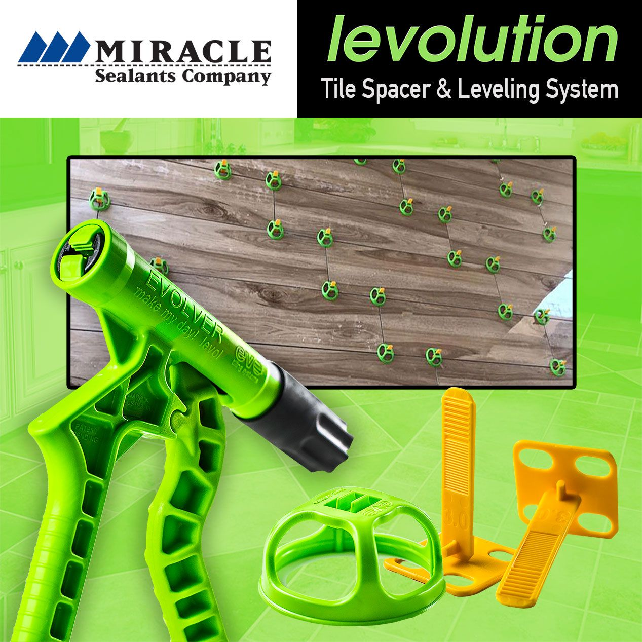 Miracle Sealants Levolution Tile Leveling & Spacer