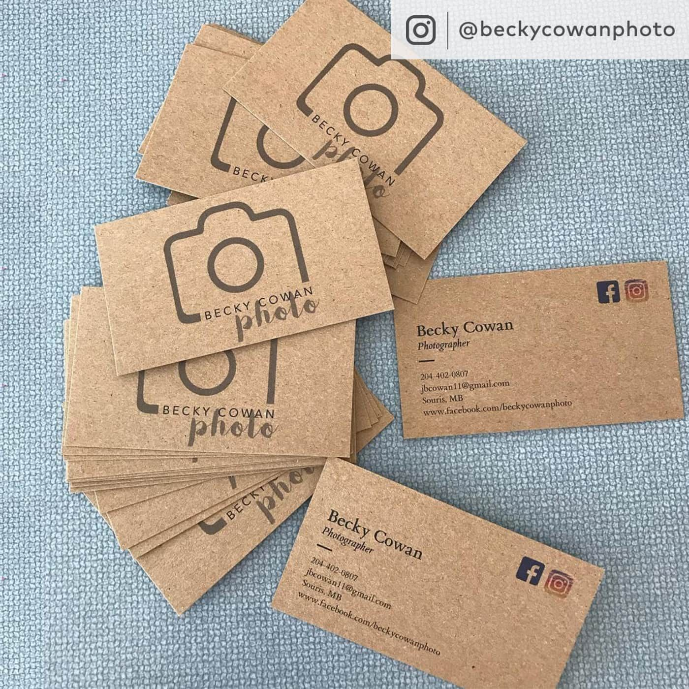 Kraft Paper Business Cards Eco Friendly Cards Vistaprint Kraft Business Cards Printing Business Cards Craft Business Cards
