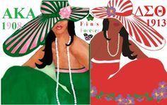 Alpha Kappa Alpha & Delta Sigma Theta -- Friends Forever #AKA #DST #happyfoundersdayalphakappaalpha Alpha Kappa Alpha & Delta Sigma Theta -- Friends Forever #AKA #DST