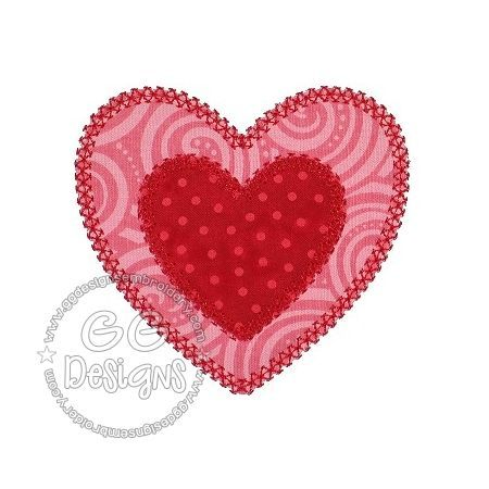 FREE Vintage Double Heart Applique | Embroidery Designs ...
