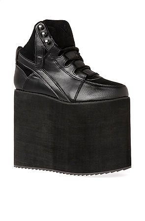 Y.R.U. Shoe Qozmo Sky-Hi in Black