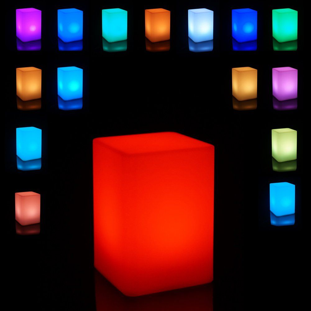 Light Up Column Cube Led Mood Lamp With Remote With Images Centerpiece Lamp Mood Lamps Column Lights