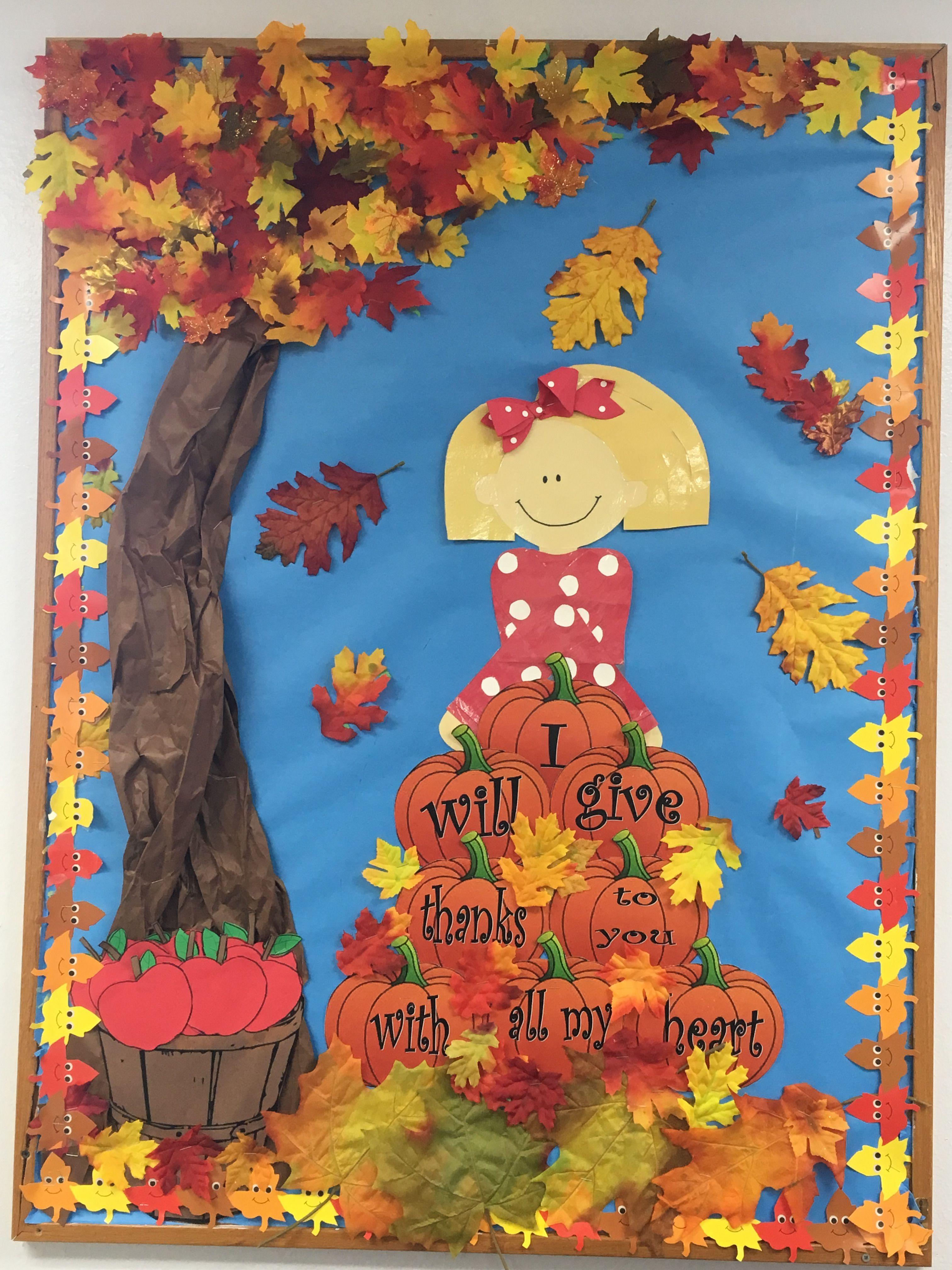 My Classroom S Fall Themed Spiritual Board Autumn Theme Preschool Bulletin Boards