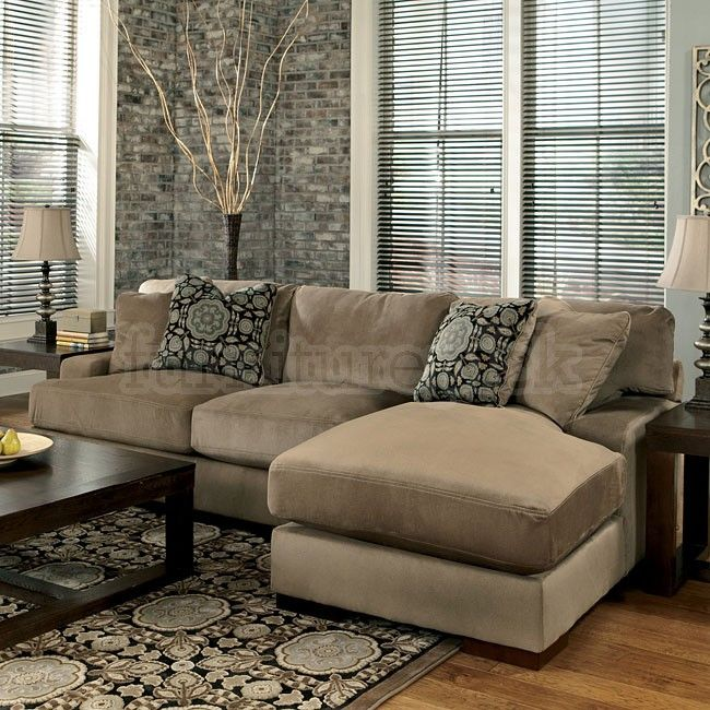 Small Sectional Sofa Clearance: Grenada - Mocha Right Chaise Small Sectional