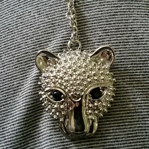 NEW Tiger Head Necklace Silver Toned Long Chain w/Tiger Head  Brand New Jewelry Necklaces